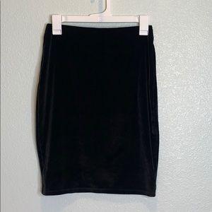 TALULA velvet spandex skirt